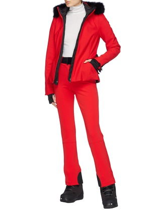 Figure View - Click To Enlarge - GOLDBERGH - 'Pippa' belted zip cuff Schoeller® ski pants