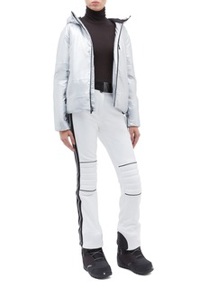 Goldbergh 'Poppy' belted stripe outseam Schoeller® ski pants