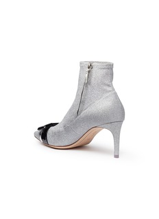 Sophia Webster 'Andie Bow' glitter coated leather ankle boots