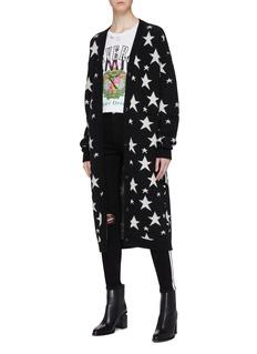 Amiri Star intarsia cashmere long cardigan