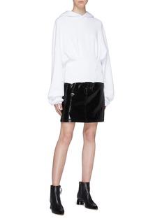 Amiri Corset hem panel cropped oversized hoodie