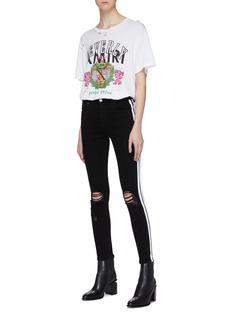 Amiri 'Beverly Hills' slogan graphic print distressed T-shirt