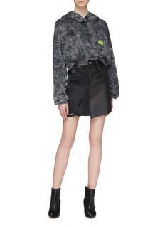 Amiri Distressed patchworked skirt