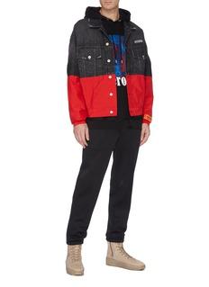 Heron Preston Colourblock patchwork denim jacket