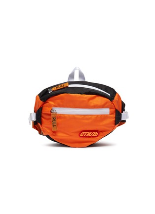 Main View - Click To Enlarge - HERON PRESTON - Cyrillic letter patch bum bag
