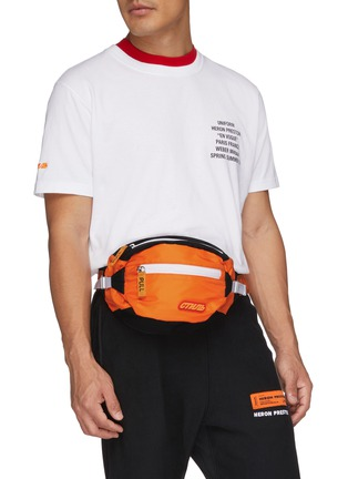 Figure View - Click To Enlarge - HERON PRESTON - Cyrillic letter patch bum bag