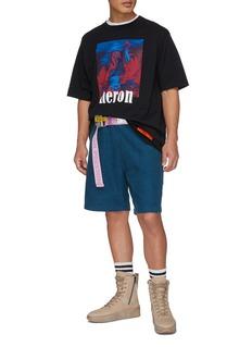 Heron Preston Cyrillic letter print sweat shorts