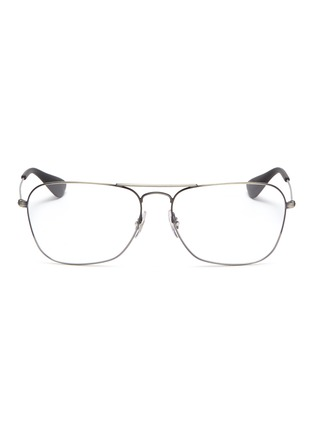 Main View - Click To Enlarge - RAY-BAN - 'RX3610' metal square aviator optical glasses