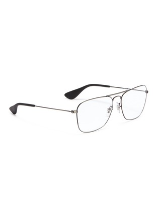Figure View - Click To Enlarge - RAY-BAN - 'RX3610' metal square aviator optical glasses