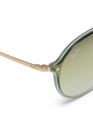 Detail View - Click To Enlarge - RAY-BAN - 'Blaze' acetate rim metal round sunglasses