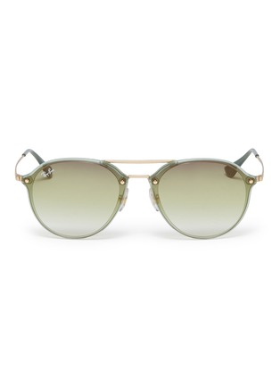 Main View - Click To Enlarge - RAY-BAN - 'Blaze' acetate rim metal round sunglasses