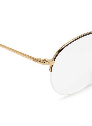 Detail View - Click To Enlarge - Ray-Ban - 'RX3947' metal round optical glasses