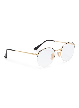 Figure View - Click To Enlarge - Ray-Ban - 'RX3947' metal round optical glasses