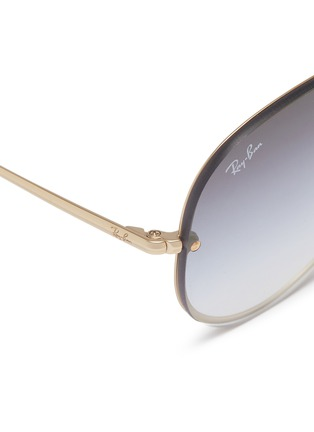 Detail View - Click To Enlarge - Ray-Ban - 'Blaze' metal aviator sunglasses