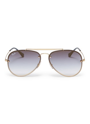 Main View - Click To Enlarge - Ray-Ban - 'Blaze' metal aviator sunglasses
