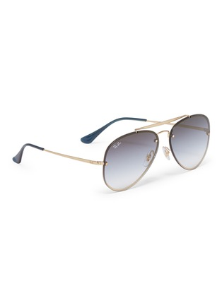 Figure View - Click To Enlarge - Ray-Ban - 'Blaze' metal aviator sunglasses