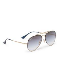 Ray-Ban 'Blaze' metal aviator sunglasses
