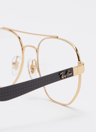 Detail View - Click To Enlarge - Ray-Ban - 'RX8418' contrast temple metal square optical glasses