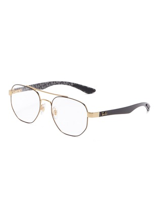 Main View - Click To Enlarge - Ray-Ban - 'RX8418' contrast temple metal square optical glasses