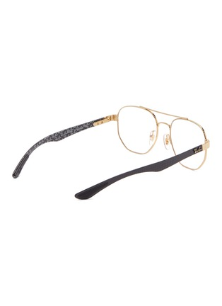 Figure View - Click To Enlarge - Ray-Ban - 'RX8418' contrast temple metal square optical glasses