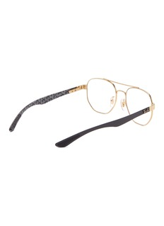 Ray-Ban 'RX8418' contrast temple metal square optical glasses
