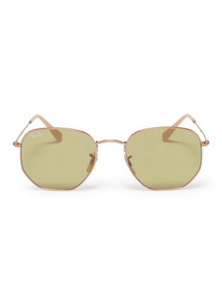 Main View - Click To Enlarge - Ray-Ban - 'RB3548' metal hexagonal frame sunglasses