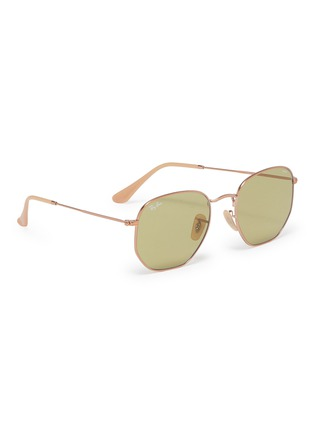 Figure View - Click To Enlarge - Ray-Ban - 'RB3548' metal hexagonal frame sunglasses