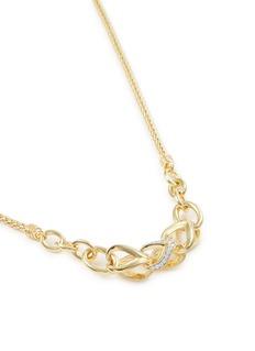 John Hardy 'Asli Classic Chain' diamond 18k yellow gold mini pendant necklace