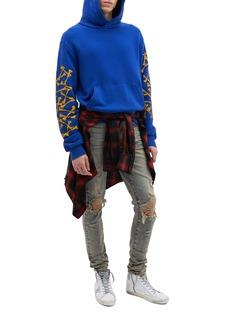 Amiri 'Bones' graphic print sleeve hoodie