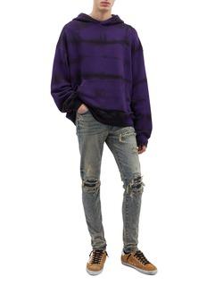 Amiri 'Shotgun' tie-dye distressed oversized hoodie