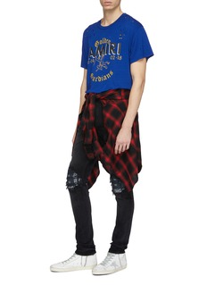 Amiri 'MX1' bandana patch ripped skinny jeans