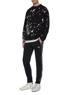 Amiri Logo print leather stripe outseam track pants