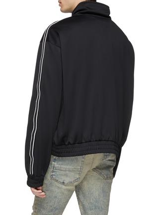 Back View - Click To Enlarge - AMIRI - Logo print leather stripe sleeve track jacket