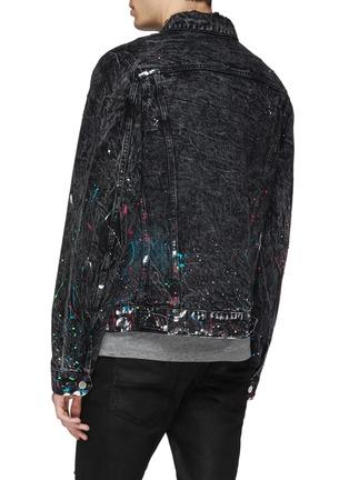 Back View - Click To Enlarge - Amiri - 'Graffiti' paint splatter denim trucker jacket