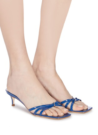 Figure View - Click To Enlarge - BY FAR - 'Libra' patent leather sandals