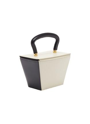 Detail View - Click To Enlarge - STAUD - 'Mini Sadie' colourblock leather trapeze bucket bag