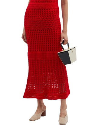 Figure View - Click To Enlarge - STAUD - 'Mini Sadie' colourblock leather trapeze bucket bag