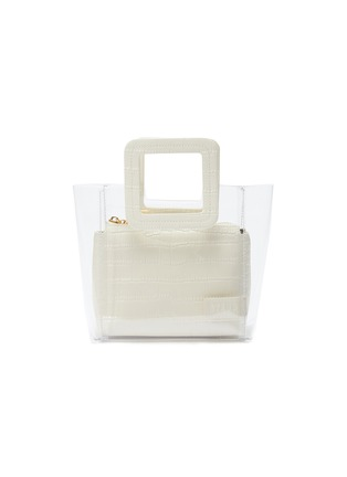 Main View - Click To Enlarge - STAUD - 'Shirley' mini croc embossed leather handle PVC tote
