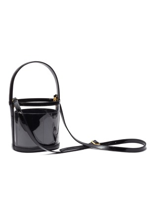 Detail View - Click To Enlarge - STAUD - 'Bissett' PVC and leather bucket bag