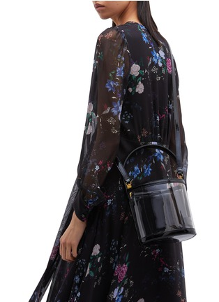 Front View - Click To Enlarge - STAUD - 'Bissett' PVC and leather bucket bag
