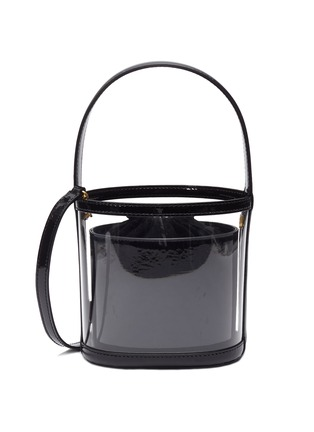 Main View - Click To Enlarge - STAUD - 'Bissett' PVC and leather bucket bag