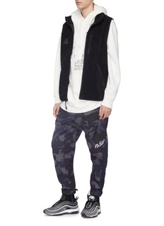 Nike 'NSW' logo embroidered camouflage print ripstop jogging pants