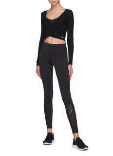 10851 'Amelia Luxe' reversible cross front cropped knit top