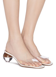 NEOUS 'Opus' sphere heel PVC sandals