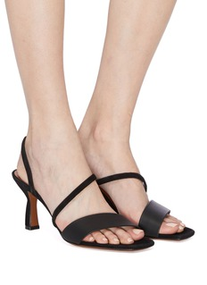 NEOUS 'Ecu' suede strappy leather sandals