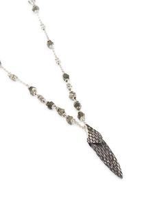 John Hardy 'Legends Naga' pyrite silver pendant necklace