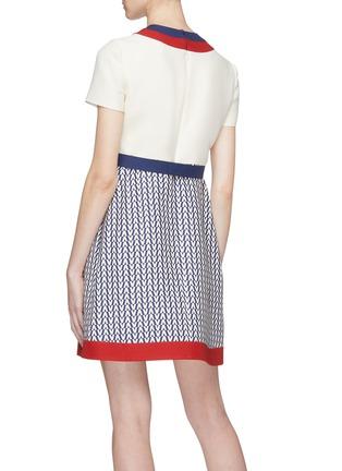 Back View - Click To Enlarge - Valentino - 'Optical Valentino' print panel virgin wool-silk dress