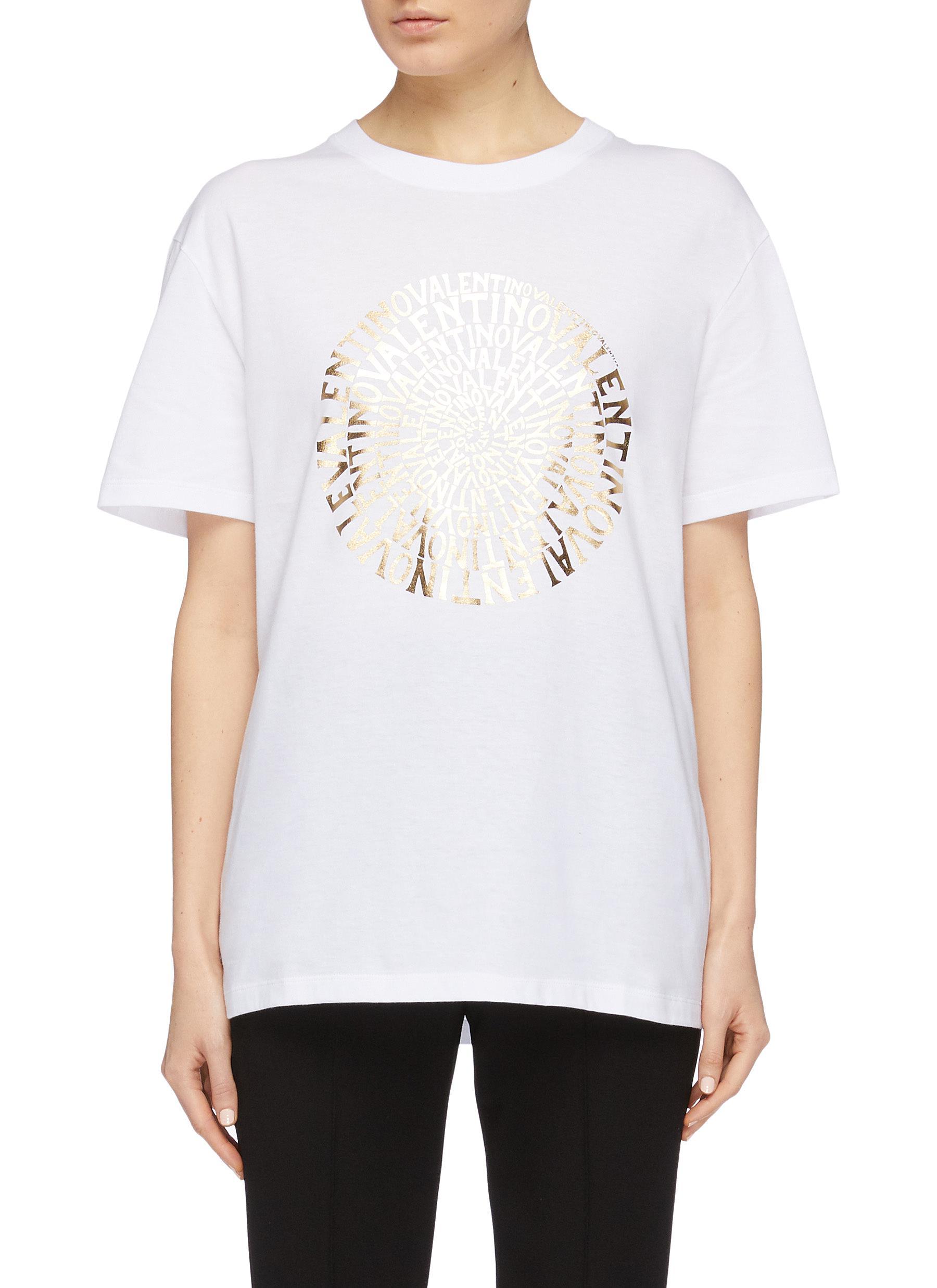 Valentino'vertigo' Print Lane Logo Women Shirt Crawford T wnP8k0O