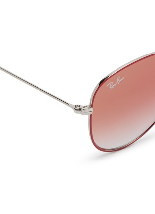 Detail View - Click To Enlarge - Ray-Ban - 'RJ9506S' metal aviator junior sunglasses