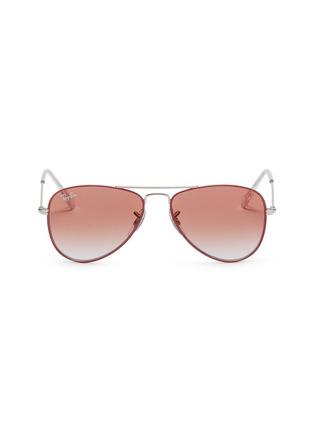 Main View - Click To Enlarge - Ray-Ban - 'RJ9506S' metal aviator junior sunglasses